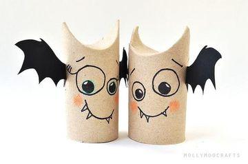 manualidades con rollos de carton para halloween