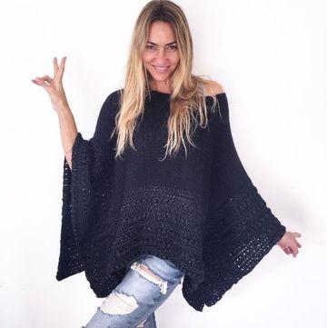 modelos de ponchos tejidos para mujeres
