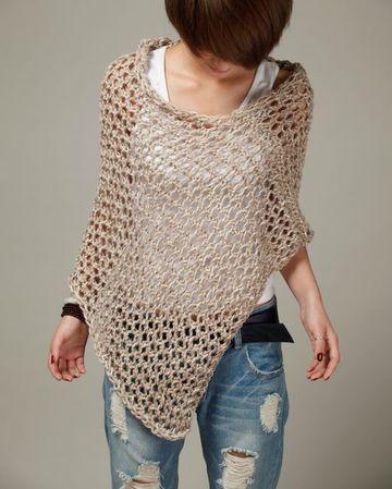 modelos de ponchos tejidos sencillos