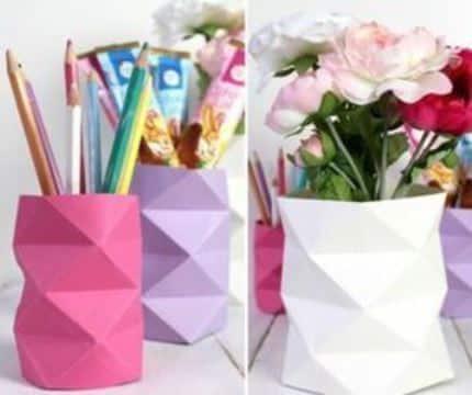 origami para el dia de la madre florero y porta lapiz