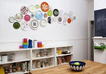 platos decorativos de pared para la cocina