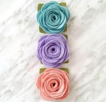 rosas de goma eva faciles en colores pasteles