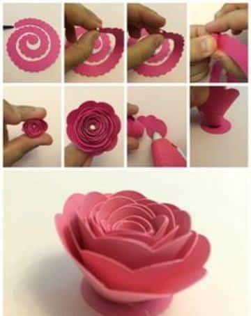 rosas de goma eva faciles paso a paso
