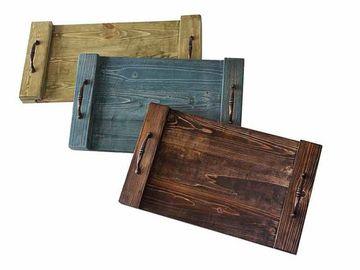 bandejas de madera para pintar tipo rustica