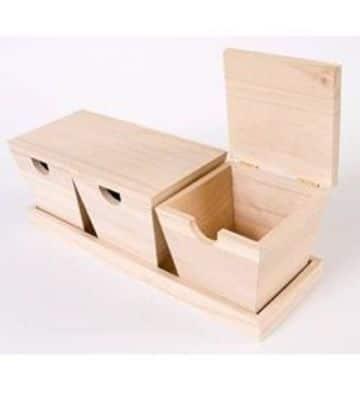 cajas de madera para pintar tipo organizador