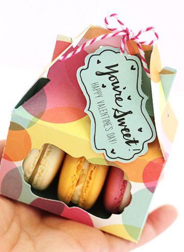 cajitas de carton para dulces de colores