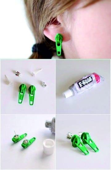 como hacer aretes de moda economicos