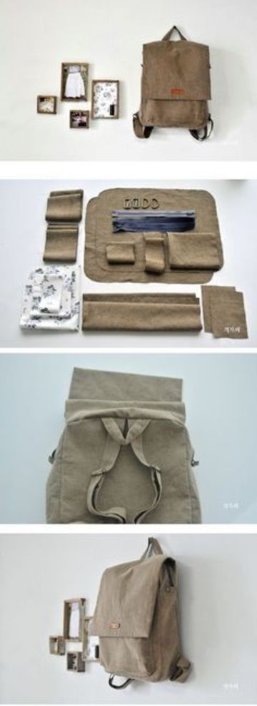 como hacer bolsos de loneta en casa