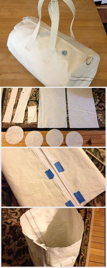 como hacer bolsos de loneta faciles