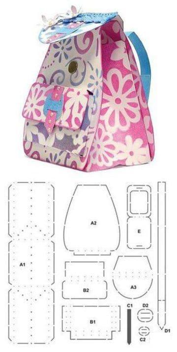 como hacer bolsos de loneta para niñas