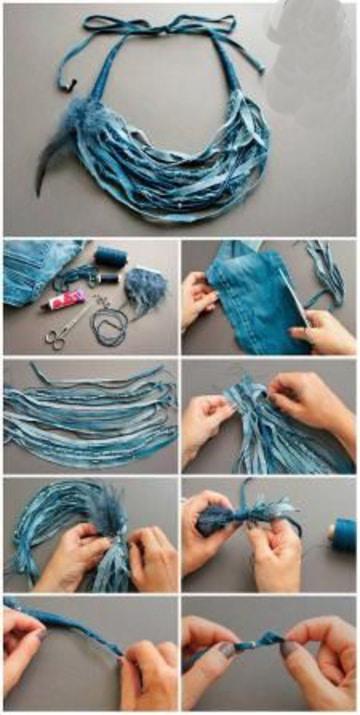 como hacer collares de tela de retazos