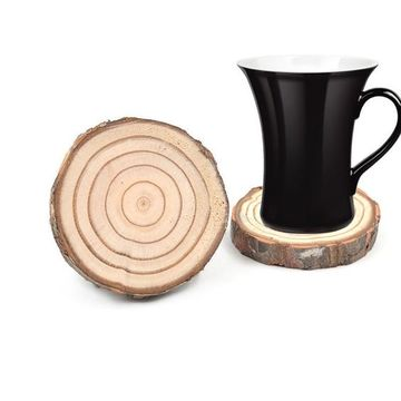 como hacer portavasos de madera de tronco