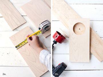 como hacer portavasos de madera para silla