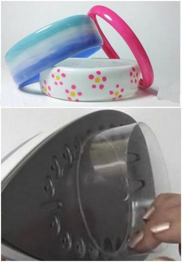 como hacer pulseras recicladas con botellas plasticas