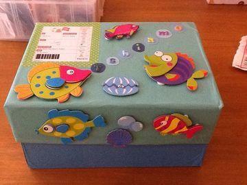 decorar cajas de carton infantiles para guardar cosas