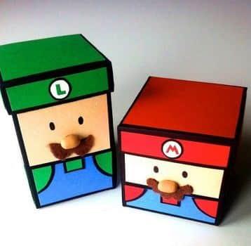 decorar cajas de carton infantiles para regalos