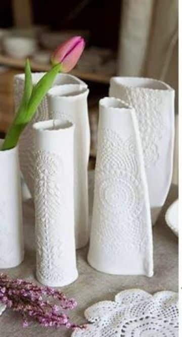 esculturas de arcilla faciles tipo florero