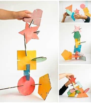 esculturas faciles para niños de figuras geometricas