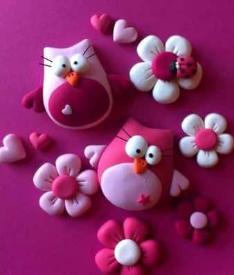 figuras de pasta francesa para decorar cuarto de niñas