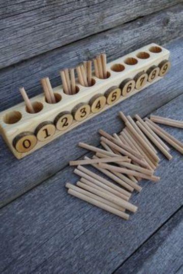 juguetes educativos de madera de los numeros