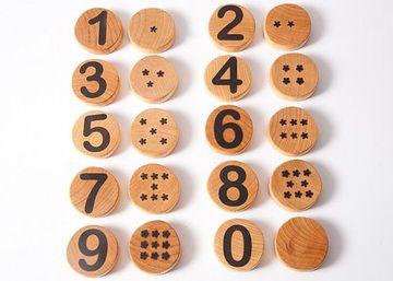 juguetes educativos de madera para aprender a contar