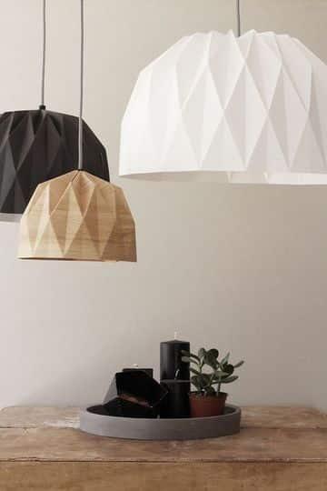 lamparas colgantes de papel modernas