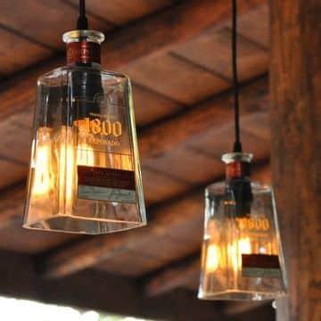 lamparas colgantes recicladas de botellas