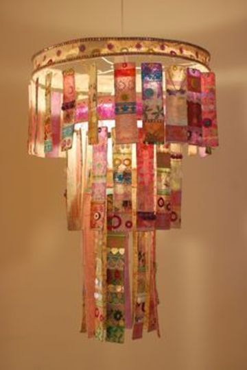 lamparas de techo hechas a mano con tela