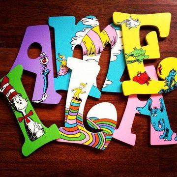letras de madera infantiles con stickers