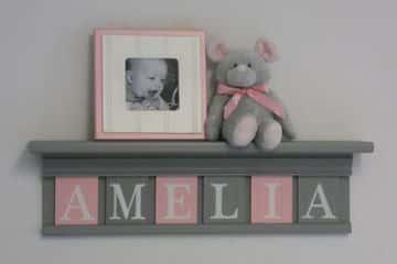 letras de madera para nombres decoradas para bebe