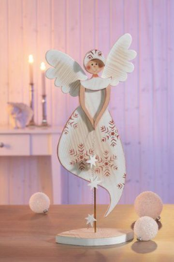 manualidades en madera country angel