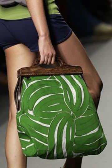 modelos de carteras de tela con madera