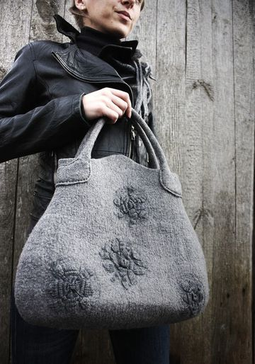 modelos de carteras de tela de lana