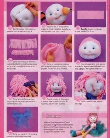 muñecas de lana paso a paso para hacer en casa