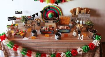 adornos patrios mexicanos para fiesta