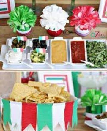 adornos patrios mexicanos para la mesa