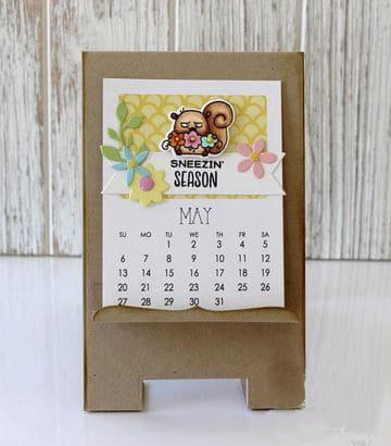 calendarios creativos hechos a mano en carton