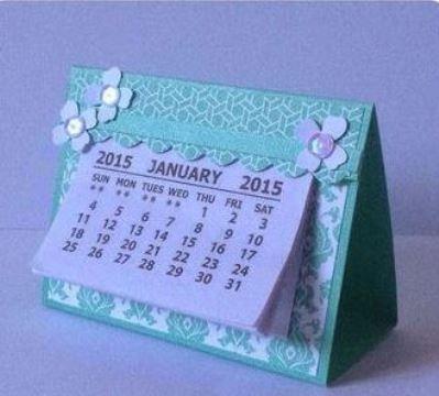 calendarios creativos hechos a mano para escritorio