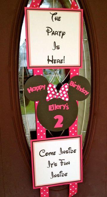 cartulinas decoradas para cumpleaños de minnie
