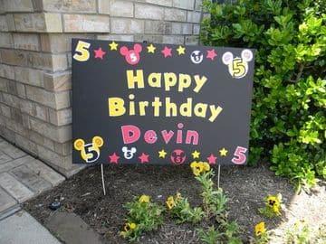 cartulinas decoradas para cumpleaños infantiles