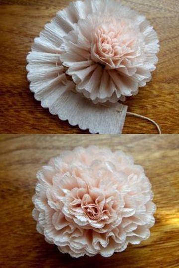 como adornar con flores de papel facilmente