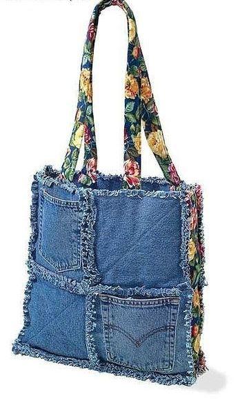 como hacer carteras recicladas con jeans