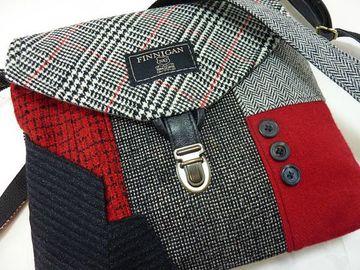 como hacer carteras recicladas con trajes de hombres