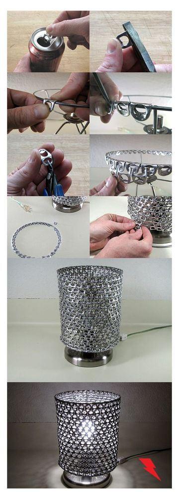 como hacer cosas de reciclaje con tapas de refresco