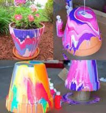 como hacer macetas decoradas con pintura
