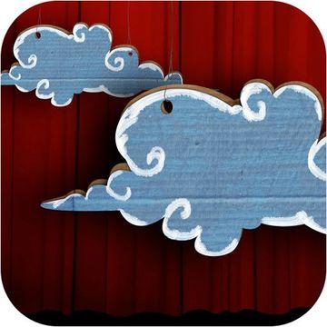 como hacer nubes de carton pintadas