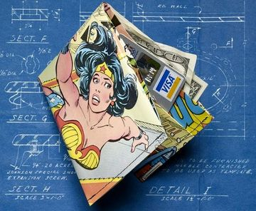 como hacer una billetera de papel con comics