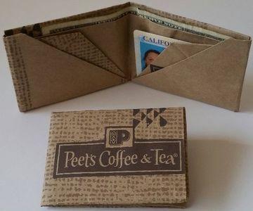 como hacer una billetera de papel con publicidad de productos
