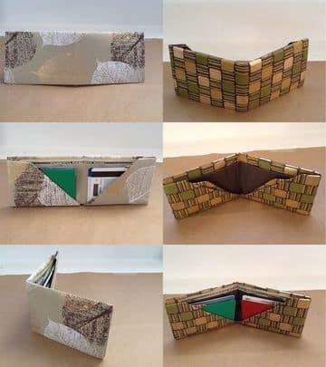 como hacer una billetera de papel texturizado