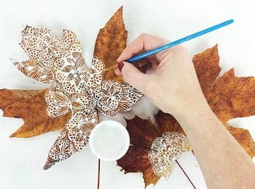 como pintar hojas de arboles con pincel fino (1)